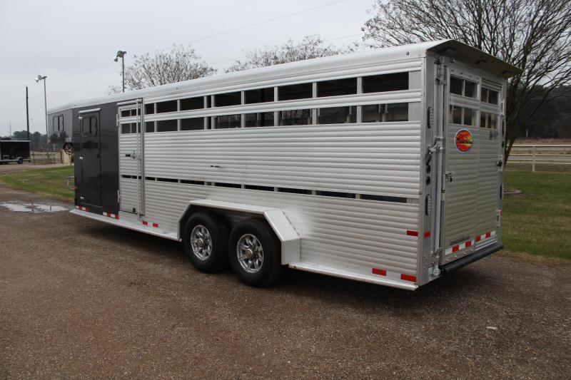 2021 Sundowner Trailers 24ft Show Cattle Low Pro with 4 Pens Livestock Trailer