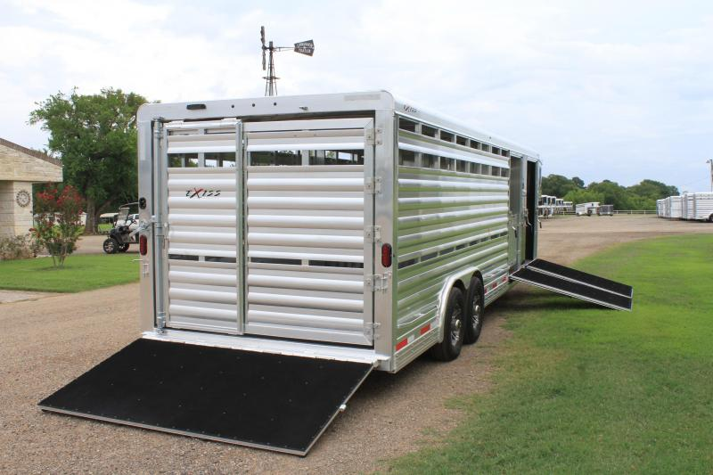 2020 Exiss 24ft Show Cattle with 4 Pens and 3 Ramps