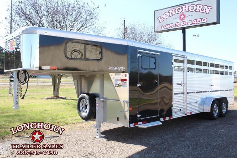 2021 Sundowner Trailers 24ft Show Cattle with Side Ramp in Tack Livestock Trailer