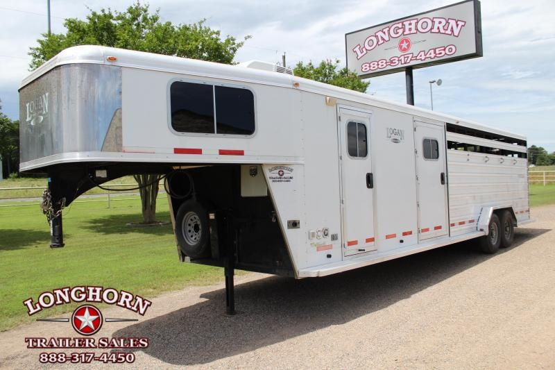 2014 Logan Coach 28ft Stock Combo with Weekend LQ Livestock Trailer