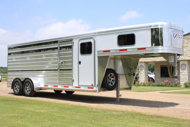 2022 Exiss Trailers 8 Pen Low Pro with Front Tack Room Livestock Trailer