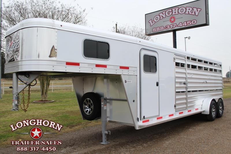 2021 Exiss Trailers 22ft Stock Combo with 6ft Tack Room Livestock Trailer
