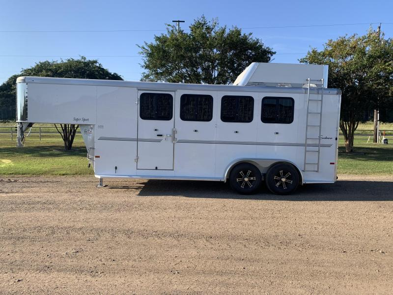 2022 Sundowner Trailers 4 Horse Gooseneck with Swing Out Saddle Rack Horse Trailer