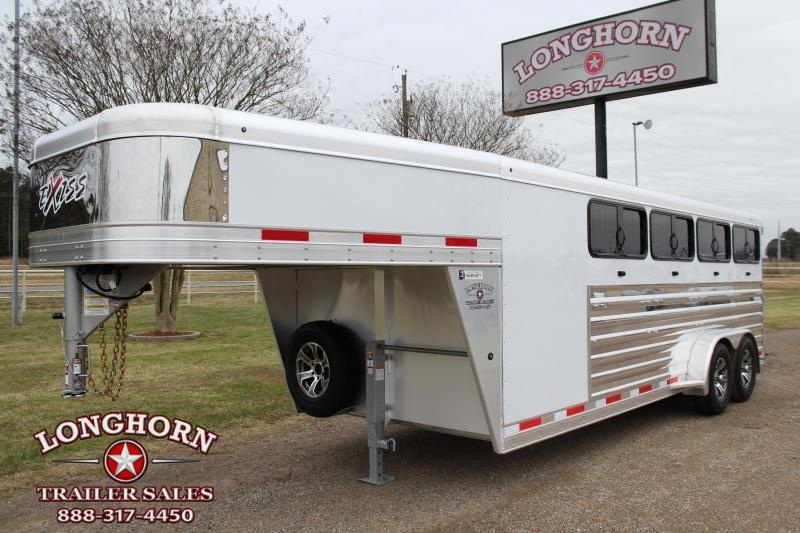 2021 Exiss Trailers 8 Pen Low Pro with Front Tack Room Livestock Trailer