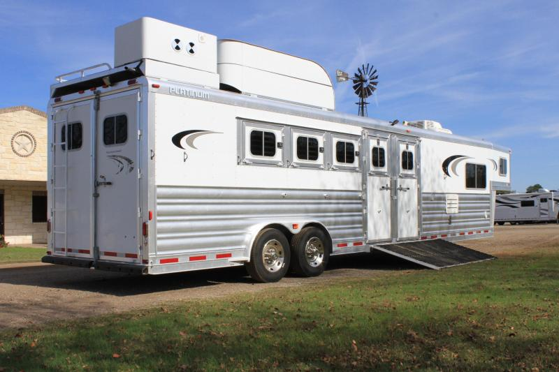 2013 Platinum Coach 5 Horse Reverse Load with 13ft LQ Horse Trailer