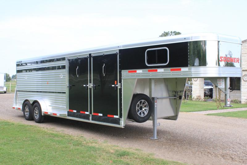 2021 Sooner 24ft Show Cattle Combo with Two Side Ramps
