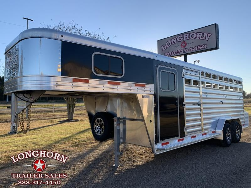 2021 Exiss Trailers 20ft Stock Combo with 4ft Tack Room HD MODEL Livestock Trailer