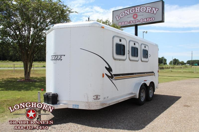 2001 Exiss  3 Horse Bumper Pull Horse Trailer