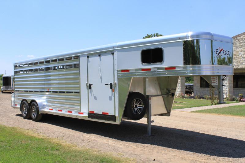 2020 Exiss Trailers 24ft Show Cattle with Side Ramp in Tack