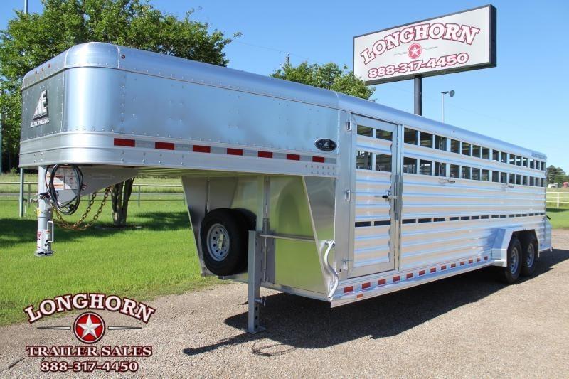 2022 Elite Trailers 24ft x 7ft Aluminum Livestock Trailer Livestock Trailer