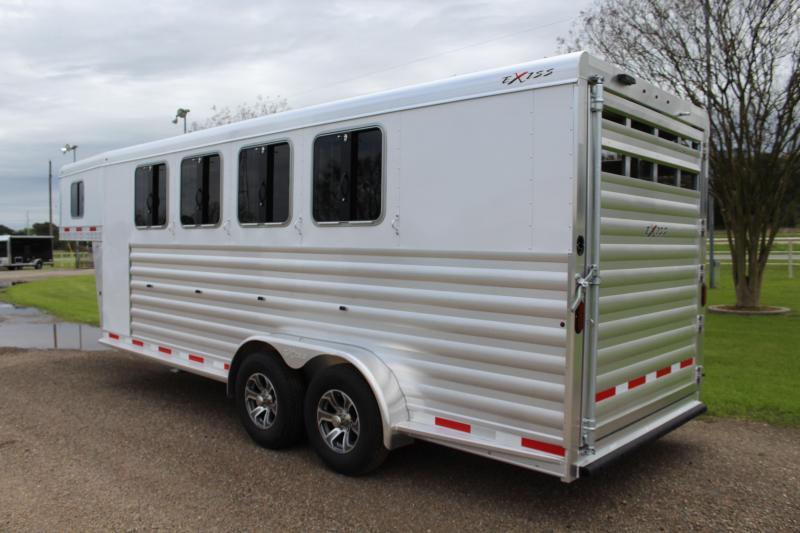 2022 Exiss Trailers 4 Horse Gooseneck Stock Combo Horse Trailer