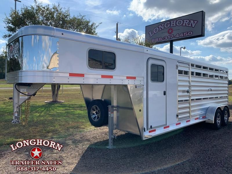 2022 Exiss Trailers 21ft Show Cattle Trailer with Side Ramp Livestock Trailer