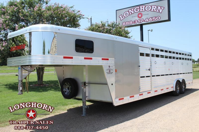 2020 Sooner 28ft Show Cattle Combo with Tack Room Livestock Trailer