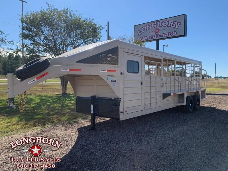 2022 Swift Built Trailers 24ft Roper with Two Swing Out Saddle Racks Livestock Trailer