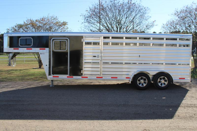 2021 Exiss Trailers 21ft Show Cattle Combo with Side Ramp in Tack Livestock Trailer