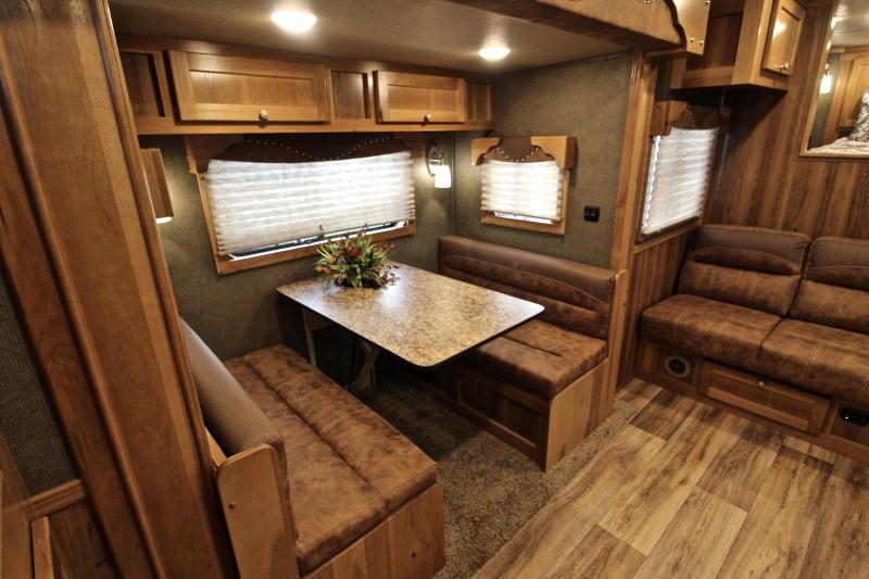 2021 SMC 4 Horse 13ft Living Quarter with Slide Out and Generator