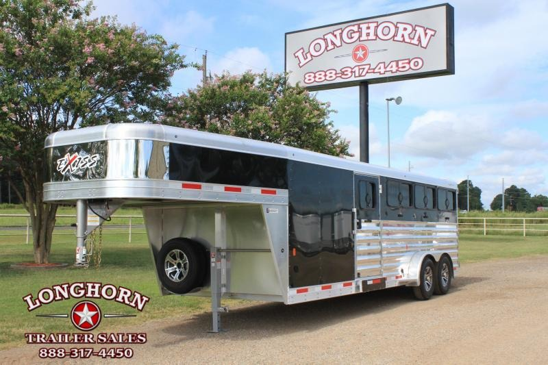 2020 Exiss Trailers Low Pro 8 Pen with 6ft Tack and Side Ramp Livestock Trailer