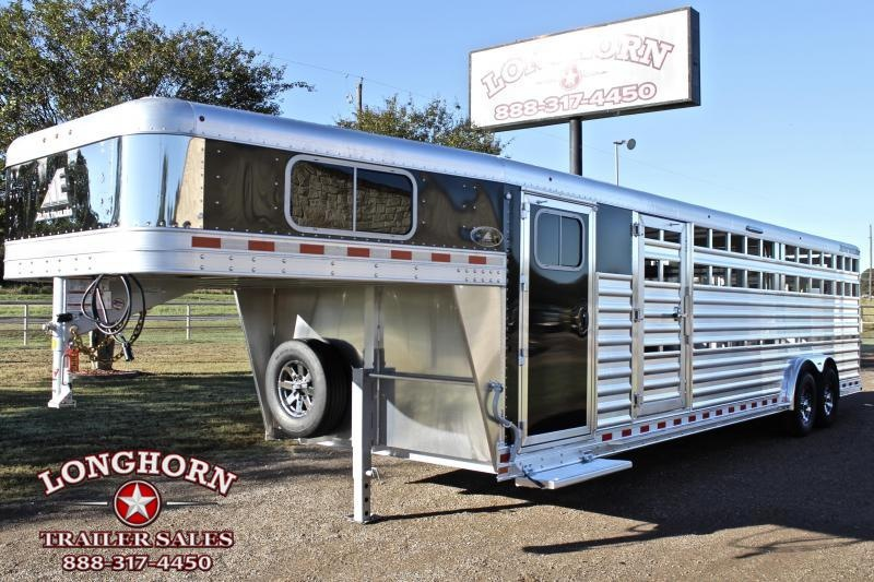 2021 Elite Trailers 28ft x 8ft Show Cattle with Two Side Ramps Livestock Trailer