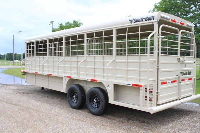 2022 Swift Built Trailers 24ft Full Metal Top Livestock Trailer Livestock Trailer