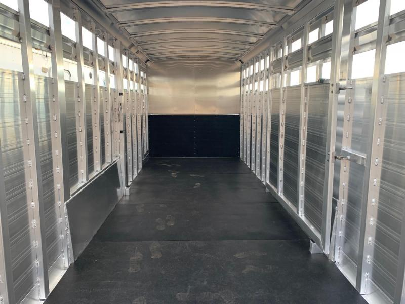 2021 Elite Trailers 24ft Stock Combo with 5ft Tack Room Livestock Trailer