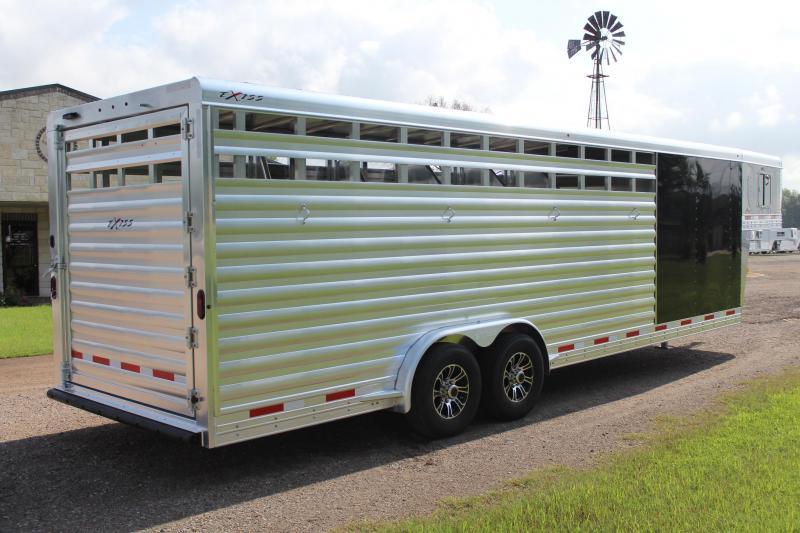 2022 Exiss  6 Horse Stock Combo Horse Trailer