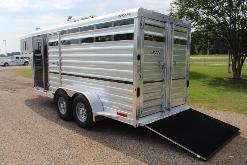 2021 Exiss 6 Pen Gooseneck Low Pro with Tack Room Livestock Trailer