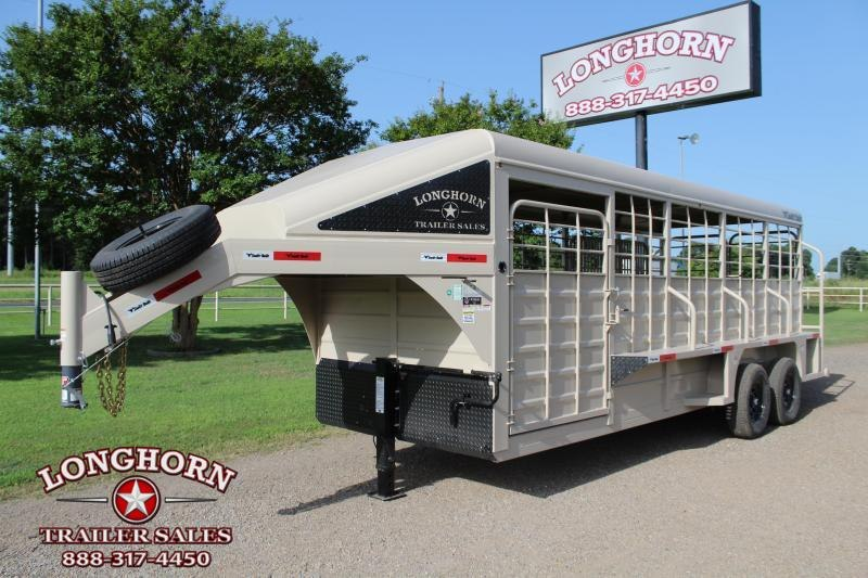 2022 Swift Built Trailers 20ft Stock Trailer with Full Metal Top Livestock Trailer
