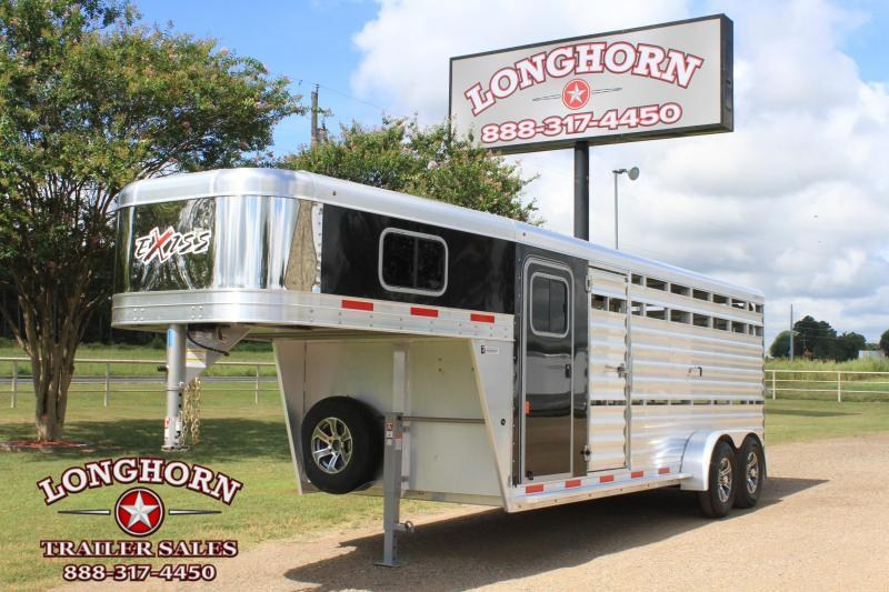 2020 Exiss Trailers 20ft Stock Combo with 4ft Tack Room