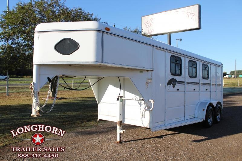 2000 S and H Trailers 3 Horse Goosneck with Front Tack Horse Trailer