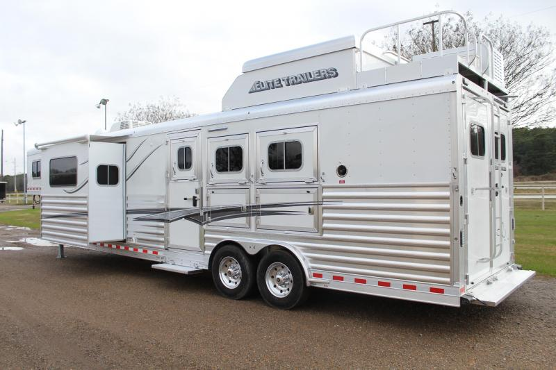 2021 Elite 3 Horse 15ft Resistol LQ with Slide Side Load