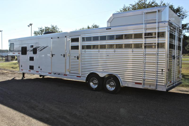 2021 SMC Horse Trailers Stock Back with 9ft Living Quarter and Midtack Livestock Trailer