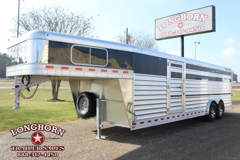 2021 Elite Trailers 8ft x 25ft Show Cattle with Floating Gate Livestock Trailer