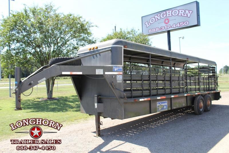 1997 Gooseneck 24ft x 6ft Stock Trailer Livestock Trailer