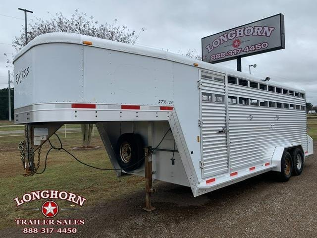 2007 Exiss Trailers 20ft Stock Trailer with Rear Ramp Livestock Trailer