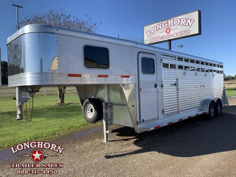 2021 Sooner 24ft Stock Combo with 4ft Tack Area Livestock Trailer