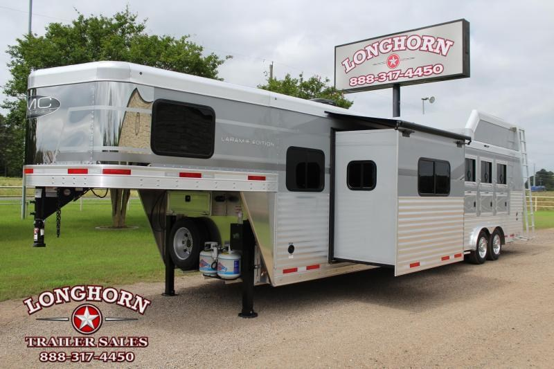2021 SMC 4 Horse 14ft Living Quarter with Slide Out and Generator