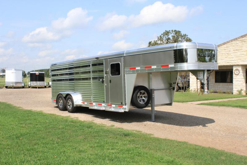 2021 Sooner 8 Pen Low Pro with Front Tack Room Livestock Trailer