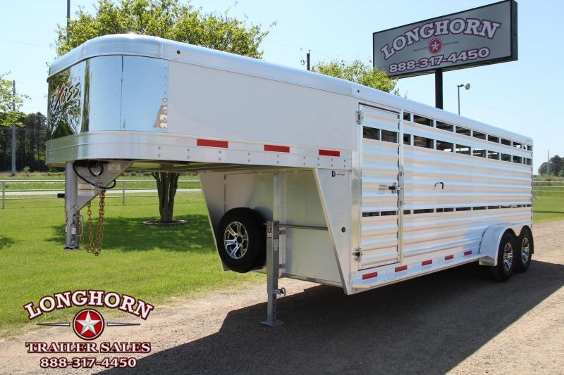 2022 Exiss Trailers 20ft Show Cattle Stock Trailer with Side Ramp Livestock Trailer