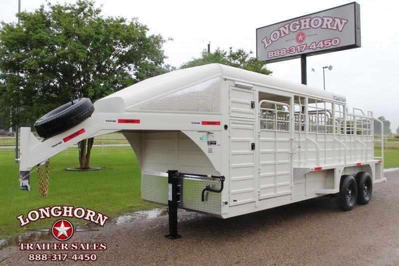 2022 Swift Built Trailers 20ft Stock Combo with Tack Boxes Livestock Trailer