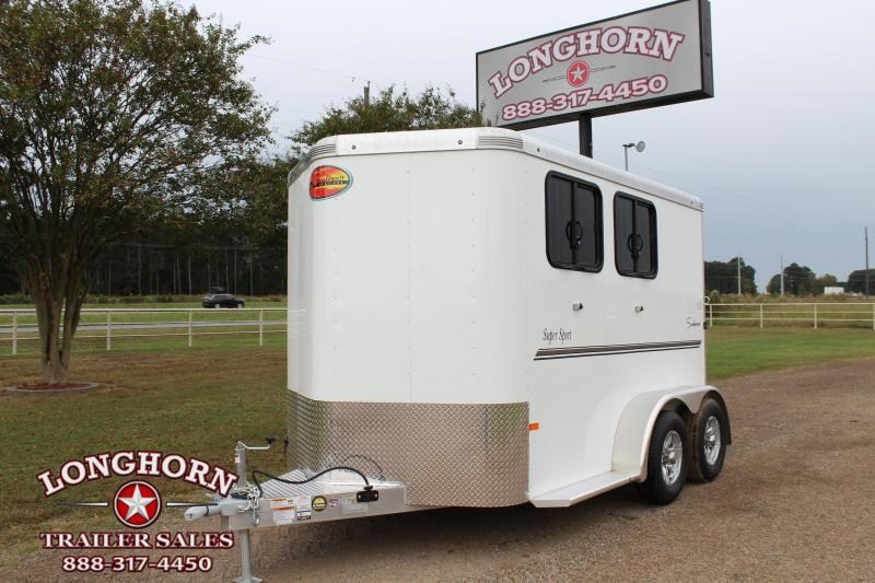 2021 Sundowner Trailers 2 Horse Bumper Pull with Front Tack Room Horse Trailer