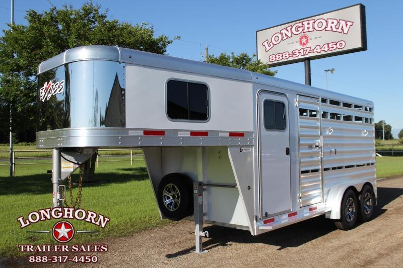 2021 Exiss Trailers 16ft Stock Combo with 4ft Tack Room Livestock Trailer