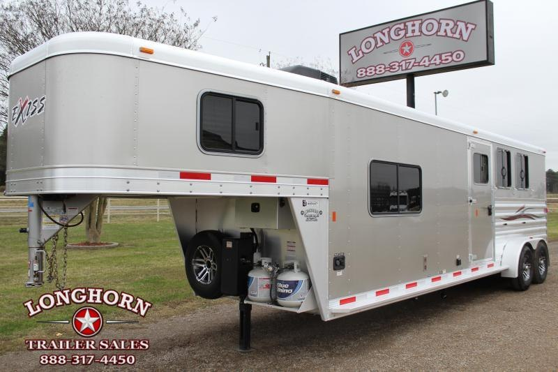 2018 Exiss Trailers 3 Horse with 8ft LQ and Side Tack Horse Trailer
