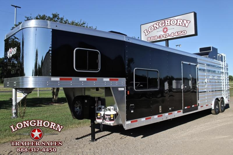 2020 Exiss Trailers 8.5ft Shortwall Stock LQ with Generator and Bunk Livestock Trailer