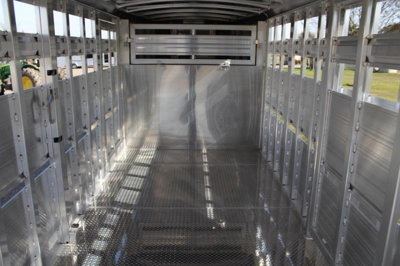 2021 Elite 24ft x 7ft Stock Trailer with Two Gates Livestock Trailer