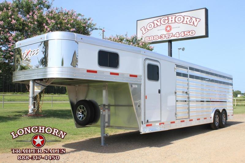 2021 Exiss Trailers 26' Show Cattle / 2 Side Ramps / Floating Gate Livestock Trailer