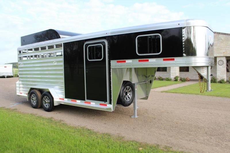 2022 Exiss Trailers 3 Horse Gooseneck with Hayrack Horse Trailer