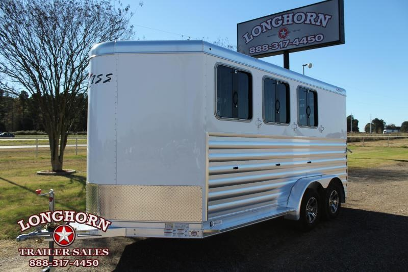 2021 Exiss 3 Horse Bumper Pull with Front Tack Room Horse Trailer