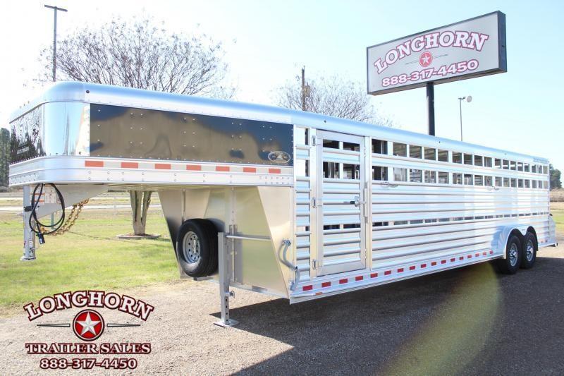 2021 Elite 7.5ft x 28ft Show Cattle Stock Trailer