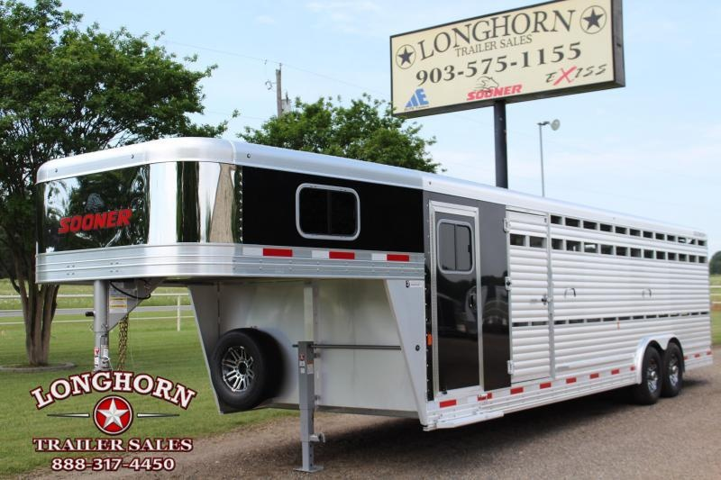 2021 Sooner 28ft Show Cattle Combo with Two Side Ramps