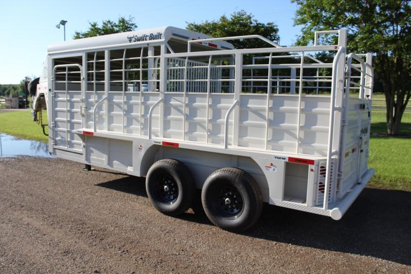 2022 Swift Built Trailers 18ft Half Top Livestock Trailer Livestock Trailer